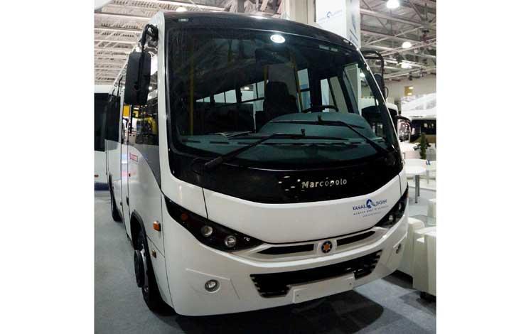 Пригородный автобус Bravis с газовым двигателем Weichai