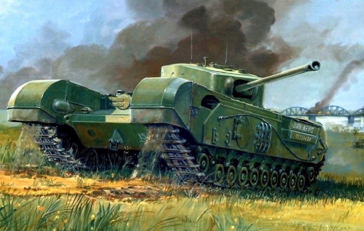 В годы войны завод в г. Лутон выпускал танки Churchill