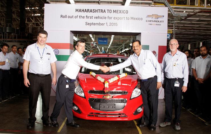 Завод в г. Талегаон. Первый автомобиль, экспортируемый в Мексику