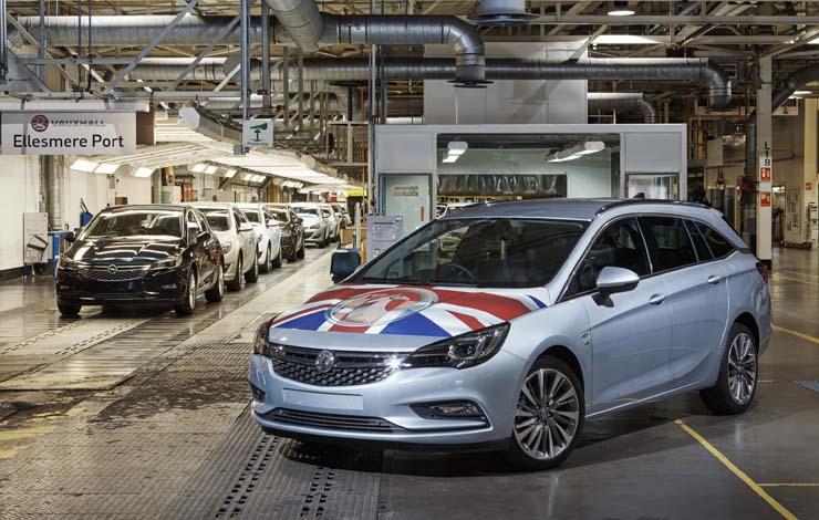 Astra Sports Tourer - продукция завода Vauxhall в г. Элсмир-Порт